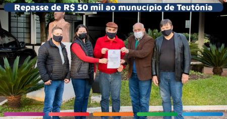 Marcon confirma repasse de R$ 50 mil à Teutônia
