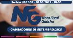 Divulgados os vencedores da Nota Fiscal Gaúcha em Teutônia