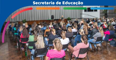 Secretaria de Educação promove encontros a fim de debater o fazer pedagógico